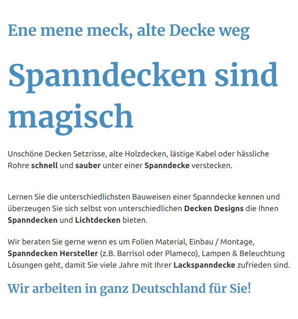 Spanndecken in  Ammerbuch