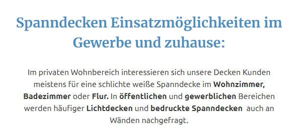 bedruckte Spanndecken für  Mettingen, Lotte, Tecklenburg, Neuenkirchen, Voltlage, Hörstel, Hopsten und Ibbenbüren, Westerkappeln, Recke